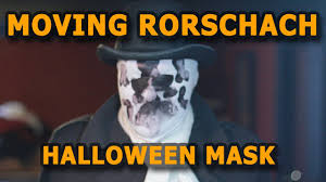 cheap moving rorschach halloween mask youtube