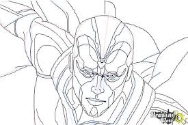 coloring pages of the avengers how to draw vision from avengers age of ultron drawingnow