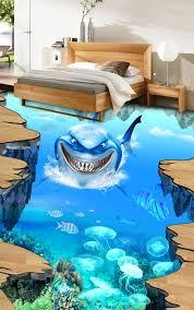 sol vinyle chambre enfant quand un sol 3d transforme votre salle de bains en océan dosedeclic