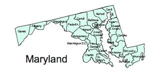 maryland map by county outline us printable county maps royalty free