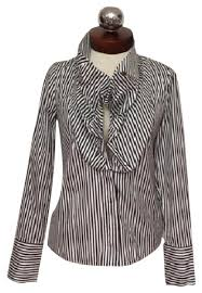 striped blouse givenchy ruffled collar striped blouse 36 button top size 00