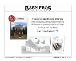 Barns With Apartments Floor Plans Huntington Barn Apartment