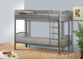 3ft Bunk Beds Metal Single Bunk Bed In 3ft Bunk Metal Frame White Black Silver