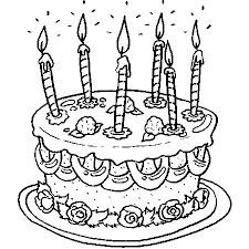 coloriage gateau anniversaire 6 ans