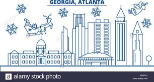 usa atlanta winter city skyline merry and