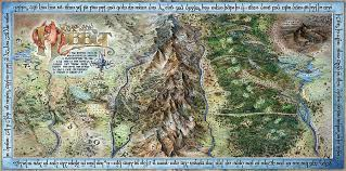 map hobbit hobbit map painting by tom koval