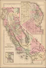 San Francisco County Map by County Map Of The State Of California With Large Inset Plan Of