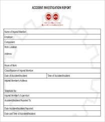 Incident Investigation Report Template by 14 Report Forms Free Sle Exle Format