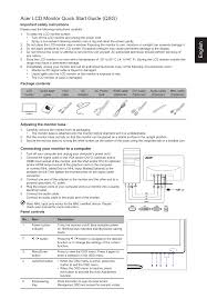 acer g237hl user manual 7 pages also for g227hql