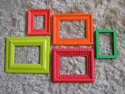 bright neon frame mirror set in pink cherry red acid yellow