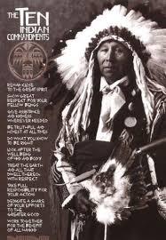white cloud s prayer americans ten commandments and earth
