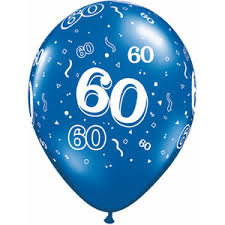 balloons for men 60th birthday printed balloons for men