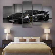 aliexpress com buy 5 pcs hd printed black luxury car framed wall