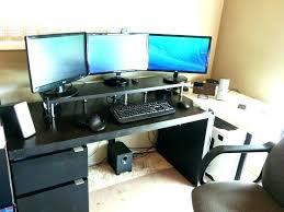 Dual Monitor Computer Desks Desk For Dual Monitors Computer Desk With Monitor Shelf Computer