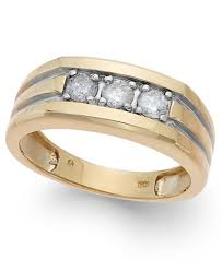 mens diamond engagement rings men s diamond 1 2 ct t w ring in 10k gold rings jewelry