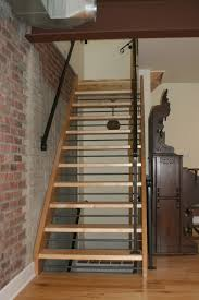 open staircase with wood treads and risers give us a call 518