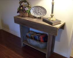 entry table reclaimed wood console table with storage shelf