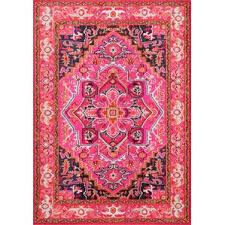 Pink And White Striped Rug Modern Flat Woven Area Rugs Allmodern