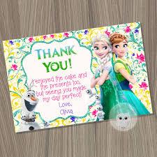 frozen fever thank you card frozen thank you card frozen