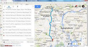 Lan Route Map by Kolkata Siliguri Through Sh7 Nh34 And Botolbari Dhantola Routes