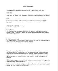 loan agreement format 5 loan agreement templates to write perfect