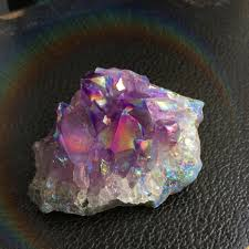 aura crystals amethyst aura crystal gemstone 50g titanium treated by lotusfairy