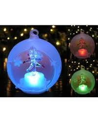 bargains on led glass globe tree ornament with tree inside