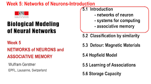 pattern recognition and machine learning epfl biological modeling of neural networks week 5 networks of neurons