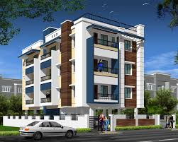 Home Exterior Design G  Andhra Client Oka By Idea Apartment - Apartment building designs