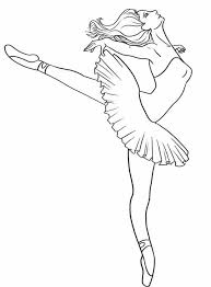 coloring pages glamorous ballerina color pages coloring print