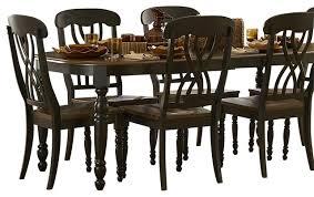 homelegance ohana 8 piece rectangular dining room set in black