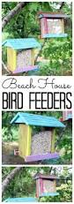 beach house bird feeders the country chic cottage