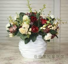 coffee table floral arrangements ceramic vase rose artificial flower decoration set coffee table