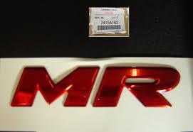 mitsubishi emblem 7415 a 162 genuine factory oem mitsubishi lancer evolution mr