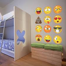 emoji wall decals emoji stickers for wall stickerbrand large emoji faces wall decal sticker 6052