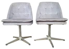 70s crushed velvet accent chairs a pair chairish