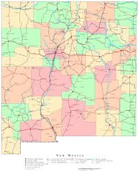 Map Of United States With Interstate Highways by Large Detailed Administrative Map Of New Mexico State With Roads