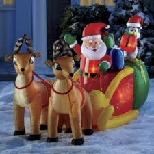 Outdoor Christmas Decorations Sleigh by 61 Best Santa Sleigh And Reindeer Outdoor Decoration Images On