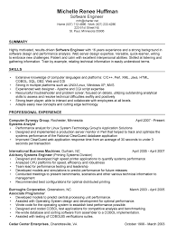 software exles for resume resume summary exles for software developer equipped print