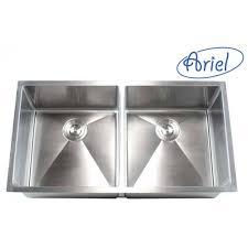 Two Bowl Kitchen Sink by Ariel 42 Inch Stainless Steel Undermount Double Bowl Kitchen Sink