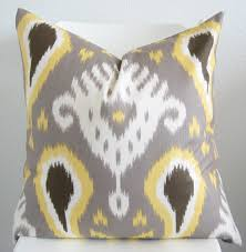 decorative pillow cover throw pillow ikat pillow 24x24
