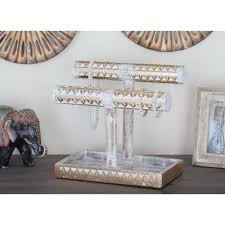 classic elephant ring holder images Litton lane 12 in x 11 in rustic mango wood jewelry holder in jpg