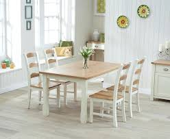 round glass dining table and cream chairs marlow oak cream dining