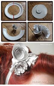 paper plate flower crafts fascinator kidschaos com