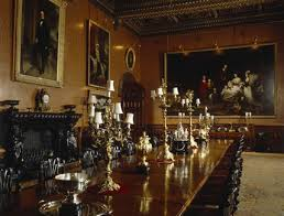 A View Of The Polished Table In The Dining Room At Penrhyn Castle - Castle dining room