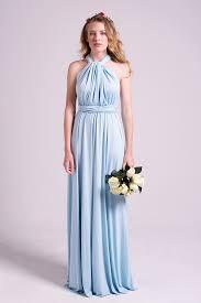powder blue classic multiway infinity dress in powder blue model chic