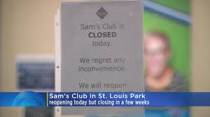 sam s club closures in minnesota 2 clubs closing wcco cbs