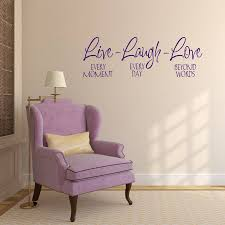 live laugh love wall sticker by mirrorin notonthehighstreet com live laugh love wall sticker