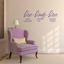 live laugh love wall sticker by mirrorin notonthehighstreet com
