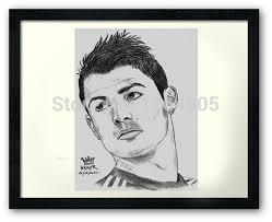 online shop canvas prints cristiano ronaldo sketch free shipping